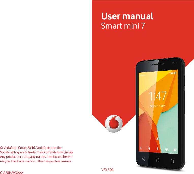 Vodafone Smart Mini 7 Owner's Guide VFD 300 English