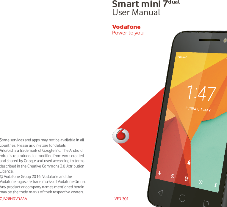 Vodafone Smart Mini 7 Dual Instruction Manual VFD 301 UM EN